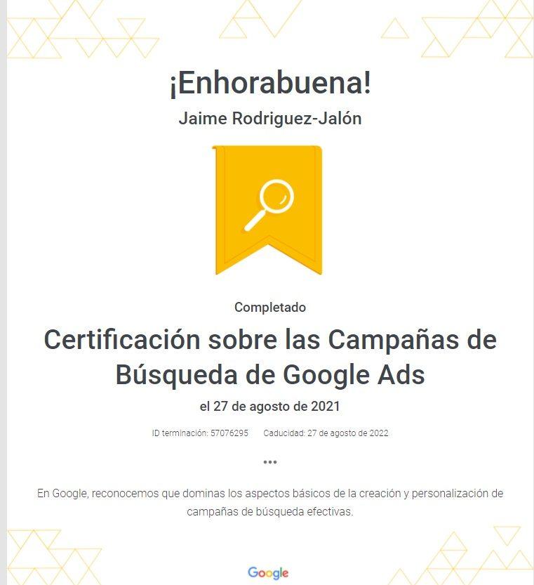 SEO SEM Jaime Jalón Google Partner